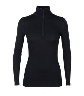 Camiseta IceBreaker 200 Oasis LS Half Zip Mujer Negro. Oferta y Comprar online