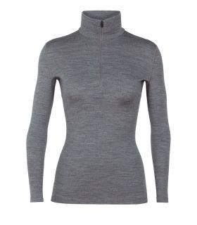 Camiseta IceBreaker 260 Tech LS Half Zip Mujer Gris. Oferta y Comprar online