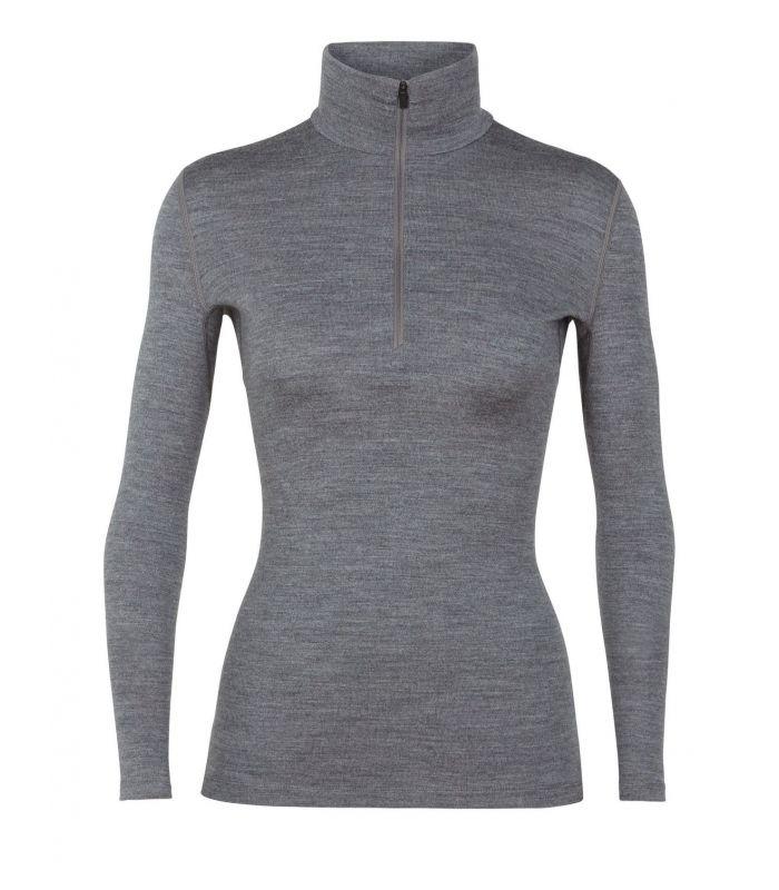Compra online Camiseta IceBreaker 260 Tech LS Half Zip Mujer Gris en oferta al mejor precio