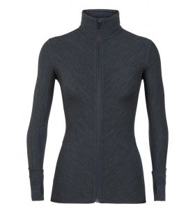 Chaqueta IceBreaker Descender Long Sleeve Zip Mujer