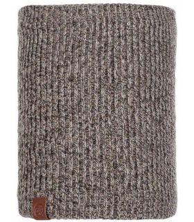 Calentador de Cuello Buff de Punto y Polar Lyne Azul Marrón. Oferta y Comprar online