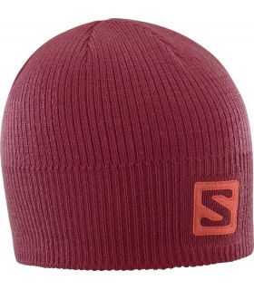 Gorro de lana Salomon Logo Beanie Biking Red
