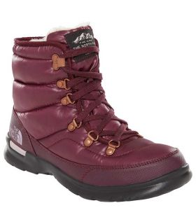 Botas The North Face Thermoball Lace II Mujer Burgundy. Oferta y Comprar online