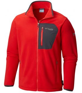 Chaqueta polar Columbia Titan Pass 2.0 Hombre Rojo. Oferta y Comprar online