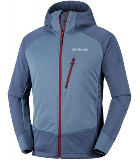 Chaqueta Soft Shell Columbia Steel Cliff Hooded Hombre Azul