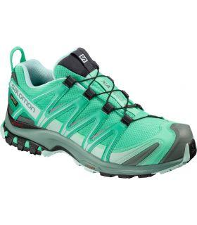 Zapatillas trail running Salomon Xa Pro 3D GTX Mujer Verde Eléctrico