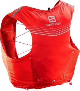 Mochila Salomon Adv Skin 5 Set Rojo