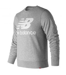 Sudadera New Balance Essentials Stacked Logo Crew Hombre Gris. Oferta y Comprar online