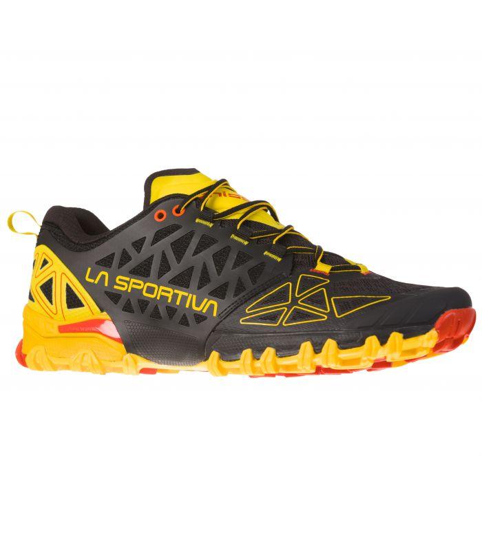 Compra online Zapatillas La Sportiva Bushido II Hombre Negro Amarillo en oferta al mejor precio