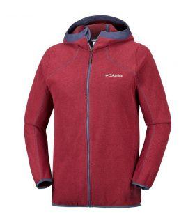 Chaqueta polar Columbia Tough Hiker Hooded Hombre Rojo. Oferta y Comprar online