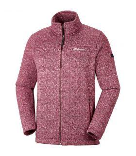 Chaqueta Columbia Boubioz Fleece Hombre Rojo. Oferta y Comprar online