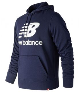 Sudadera New Balance Essentials Stacked Logo Po Hoodie Hombre Pigmento