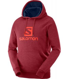 Sudadera Salomon Logo Hoodie Hombre Biking Red