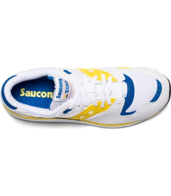 Compra online Zapatillas Saucony Azura Hombre Blanco Amarillo en oferta al mejor precio