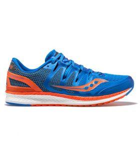 Saucony LIBERTY ISO Azul y Naranja Hombre. Oferta y Comprar online
