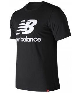 Camiseta New Balance Essentials Stacked Logo Tee Hombre Negro