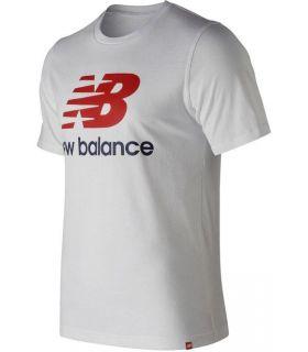 bc2bb2cb3d822 Camiseta New Balance Essentials Stacked Logo Tee Hombre Blanco