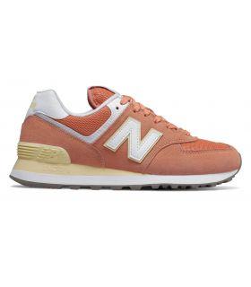 Zapatillas New Balance WL574 Mujer Naranja Blanco. Oferta y Comprar online
