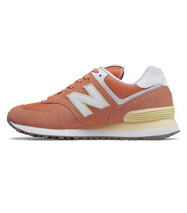 Zapatillas New Balance WL574 Mujer Naranja Blanco