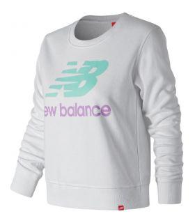 Sudadera New Balance Essentials Crew Mujer Blanco. Oferta y Comprar online