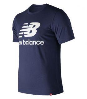 Camiseta New Balance Essentials Stacked Logo Tee Hombre Pigmento. Oferta y Comprar online