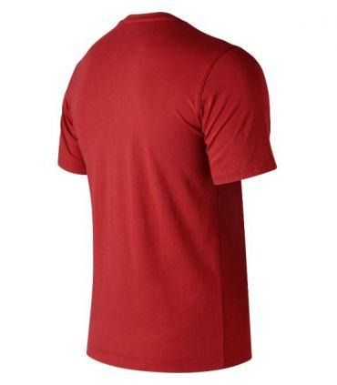 Camiseta New Balance Essentials Stacked Logo Tee Hombre Rojo