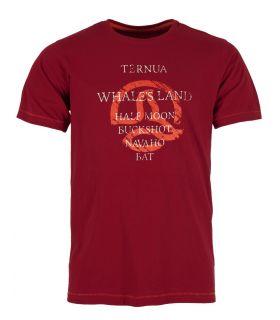 Camiseta Ternua Yojoa Hombre Burgundy