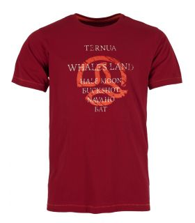 Camiseta Ternua Yojoa Hombre Burgundy. Oferta y Comprar online