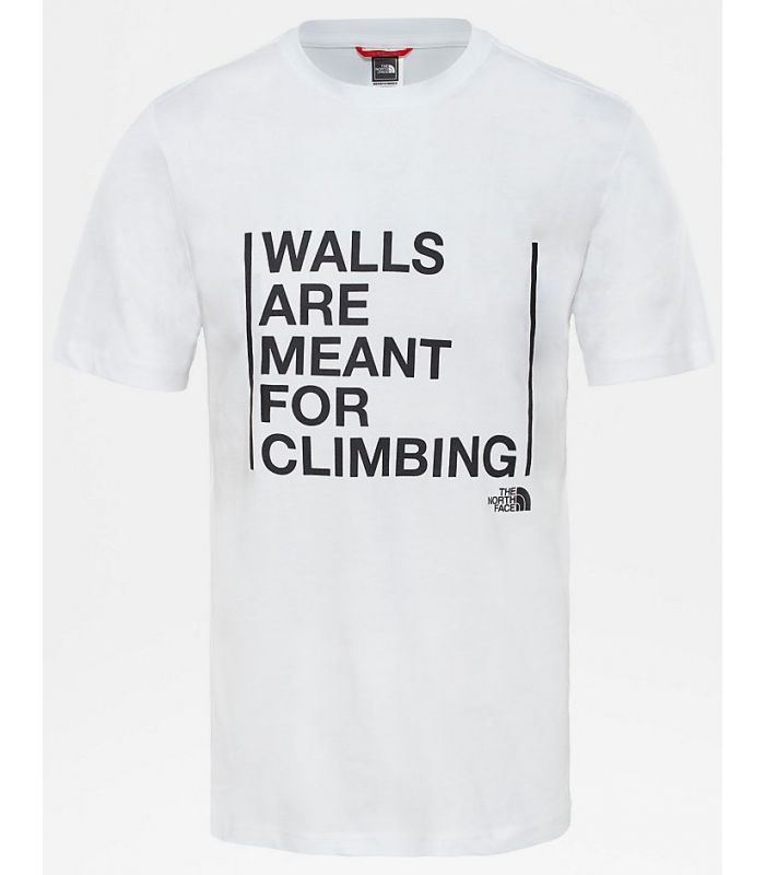 Compra online Camiseta The North Face SS Walls Climb Hombre Blanco en oferta al mejor precio