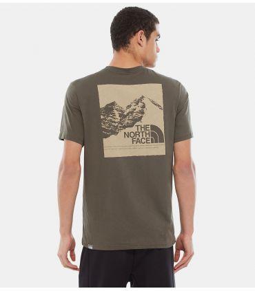 Camiseta The North Face S/S Mnt Exp Hombre Nuevo Verde Topo