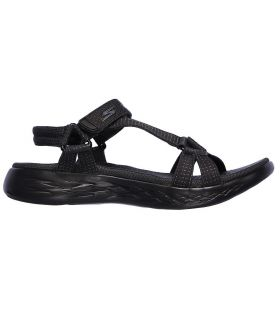 Sandalias Skechers On The Go 600 Brilliancy Mujer Negro