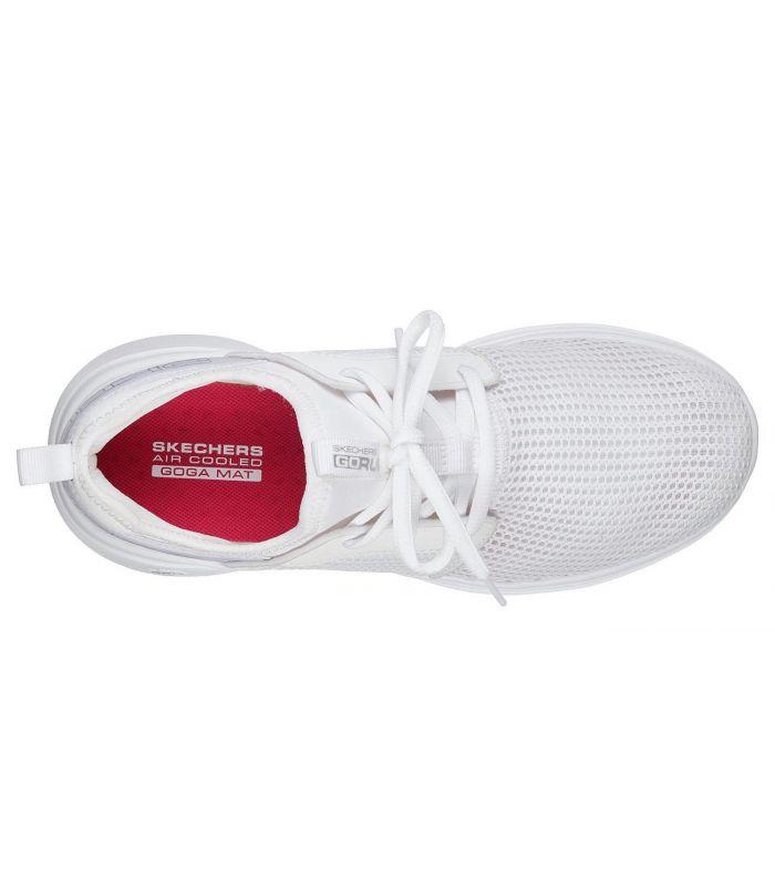 Compra online Zapatillas Skechers GoRun Fast Valor Mujer Blanco en oferta al mejor precio