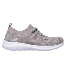 Zapatillas Skechers Ultra Flex Statements Mujer Beige. Oferta y Comprar online