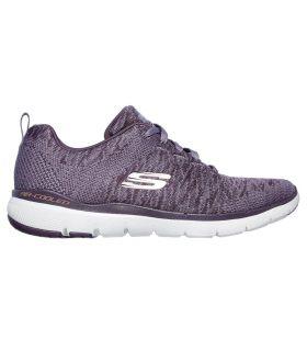 Zapatillas Skechers Flex Appeal 3.0 Mujer Morado. Oferta y Comprar online