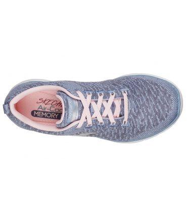 Zapatillas Skechers Flex Appeal 3.0 Mujer Gris Rosa