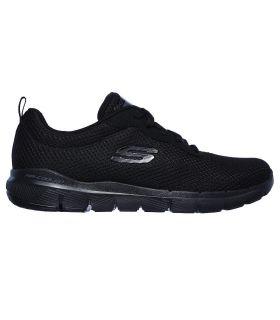 Zapatillas Skechers Flex Appeal 3.0 First Insight Mujer Negro. Oferta y Comprar online