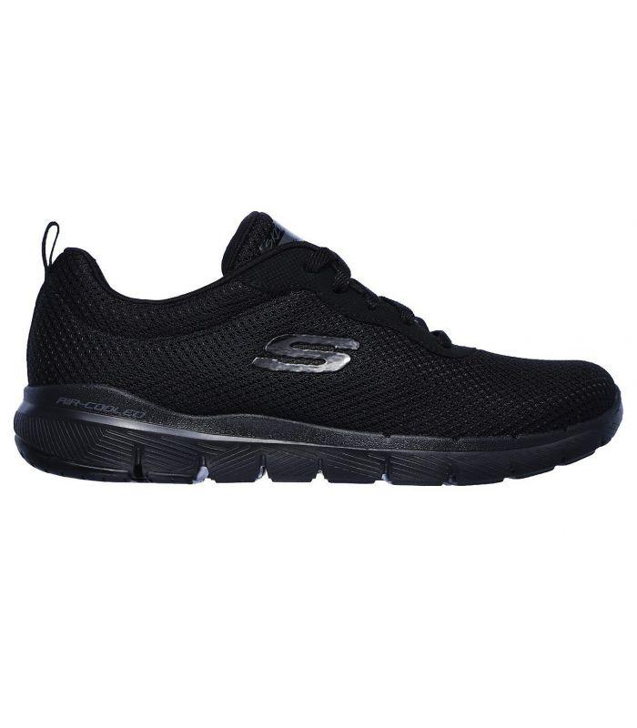 Compra online Zapatillas Skechers Flex Appeal 3.0 First Insight Mujer Negro en oferta al mejor precio