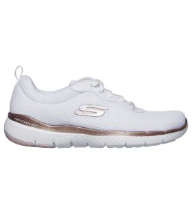 Zapatillas Skechers Flex Appeal 3.0 First Insight Mujer Blanco. Oferta y Comprar online