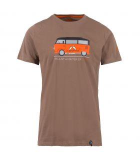 Camiseta La Sportiva Van Hombre Marron Naranja. Oferta y Comprar online