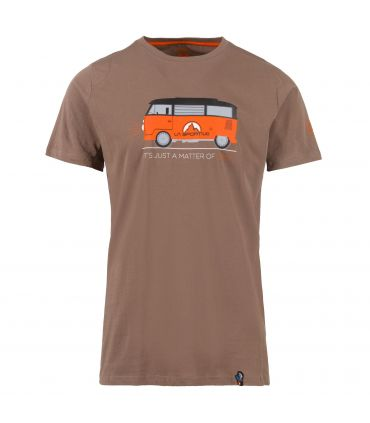 Camiseta La Sportiva Van Hombre Marron Naranja