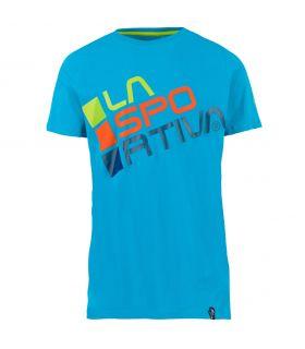 Camiseta La Sportiva Square Hombre Azul Tropical