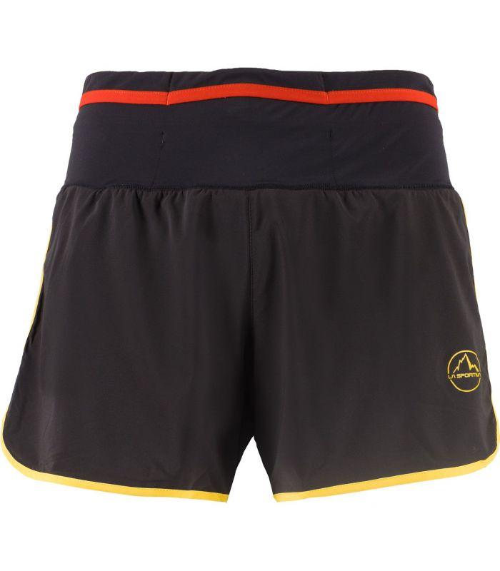 Compra online Pantalones La Sportiva Tempo Hombre Negro Amarillo en oferta al mejor precio