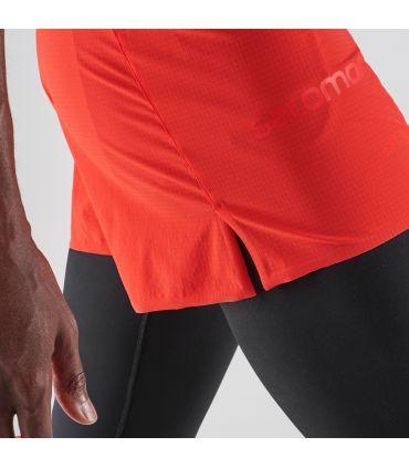 Pantalones Salomon S-Lab Short 4 M Hombre Rojo