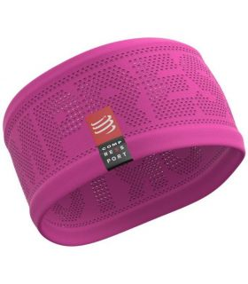 Banda Compressport Headband On/Off Rosa