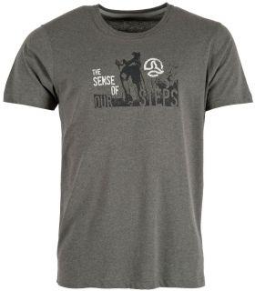 Camiseta Ternua Yelia Hombre Ballenas Grises. Oferta y Comprar online