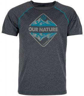 Camiseta Ternua Meager Hombre Ballenas Grises. Oferta y Comprar online