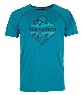 Camiseta Ternua Meager Hombre Pato Azul. Oferta y Comprar online