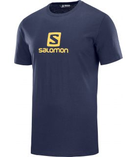 Camiseta Salomon MC Coton Logo SS Tee Hombre Night Sky