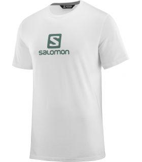 Camiseta Salomon MC Coton Logo SS Tee Hombre Blanco. Oferta y Comprar online