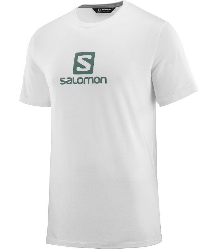 Compra online Camiseta Salomon MC Coton Logo SS Tee Hombre Blanco en oferta al mejor precio